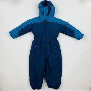 REI Blue Insulated One Piece Snow Suit Sz 2T